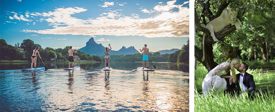 Essayez-vous au stand-up paddle ou profitez d'un safari dans une réserve naturelle