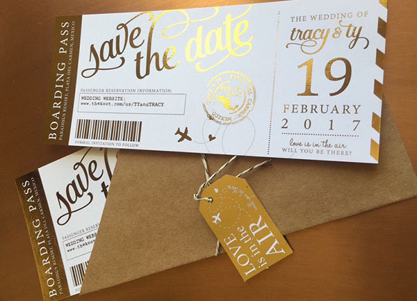 Save the date Boarding Pass par aLITTLEsmallTALK
