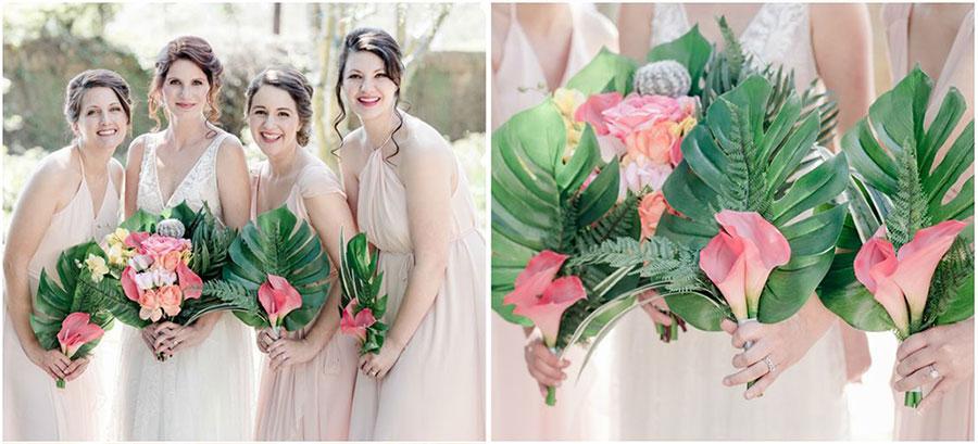 Le bouquet de fleurs tropicales