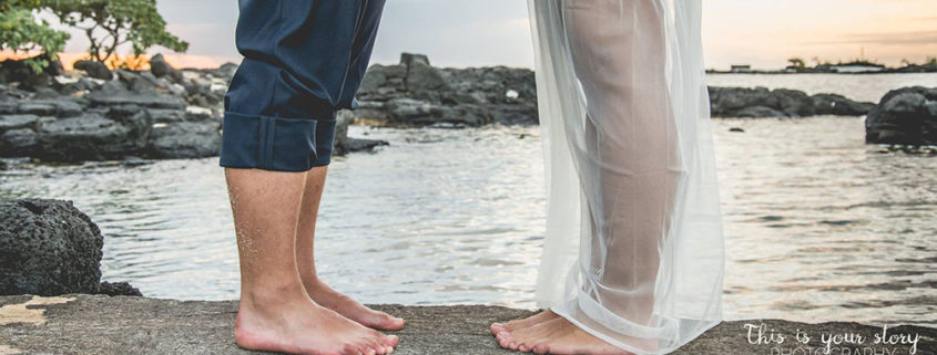 Les mariés aux pieds nus
