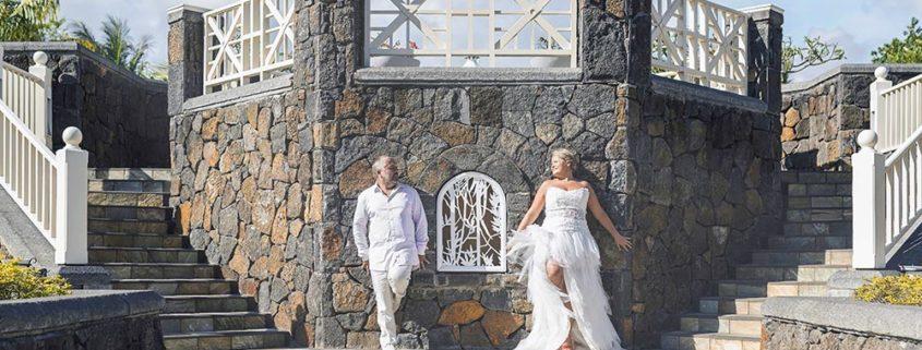 Nelly et Serge, loin du mariage classique, sous le soleil de l'île Maurice