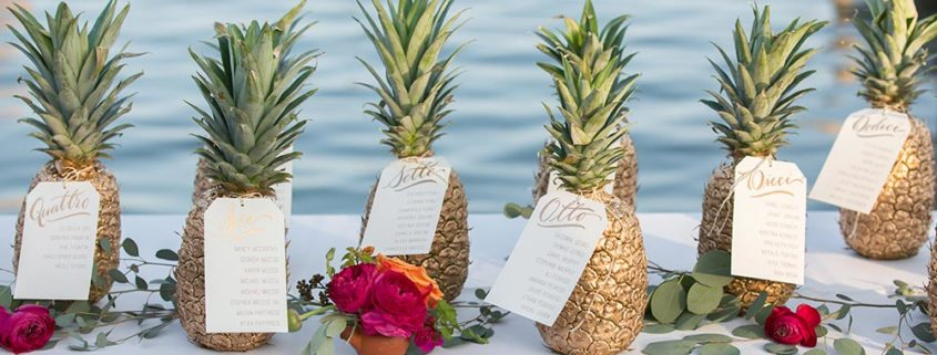 Mariage sur le thème Ananas
