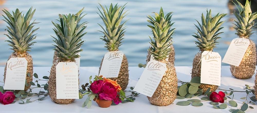 l ananas pour un mariage acidul et tropical l le. Black Bedroom Furniture Sets. Home Design Ideas