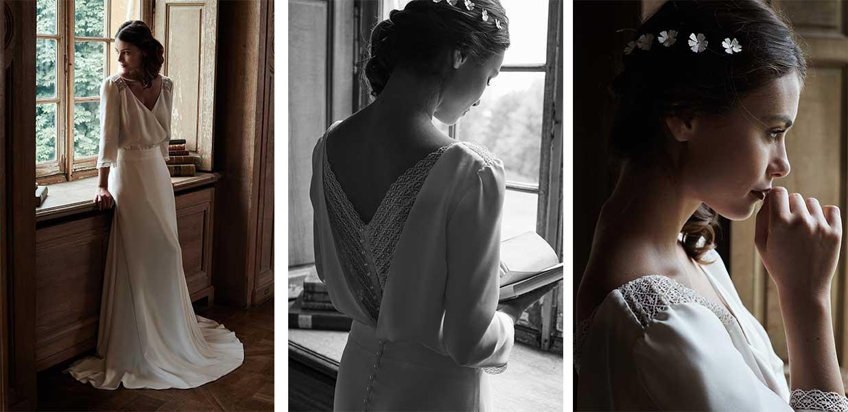 Le rétro au goût du jour pour les robes de mariée Mathilde Marie