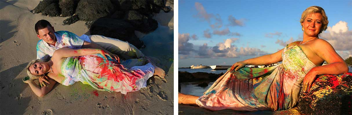 Une séance « Trash the dress » inspirée de Holi