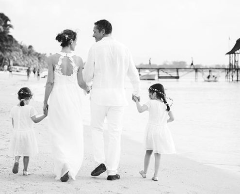 Cécilia & Fabrice : un elopement sur une des plus belles plages de l'île Maurice