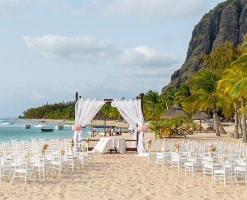 La classe du style colonial pour un mariage à l'hôtel St Régis Mauritius