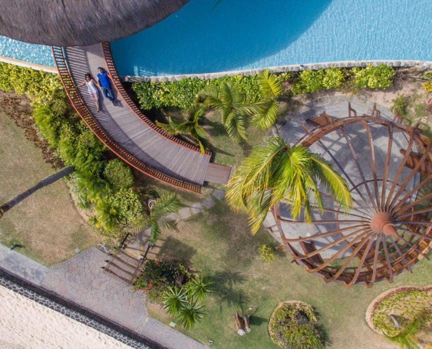 Vos photos de mariage à l'île Maurice par drone