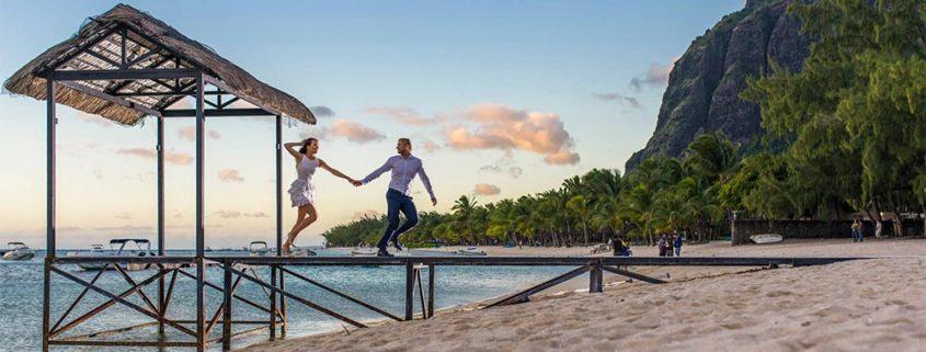 pontons et jetées pour vos photos de mariage à Maurice