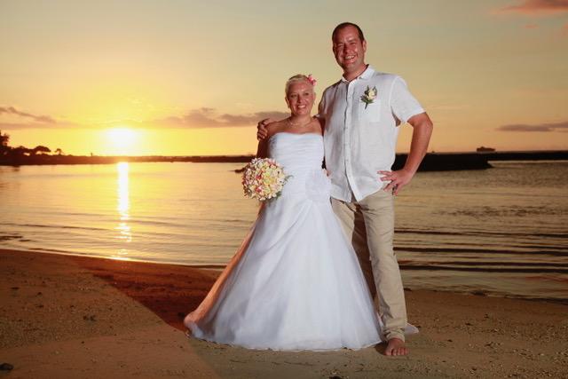 photos mariage île maurice plage