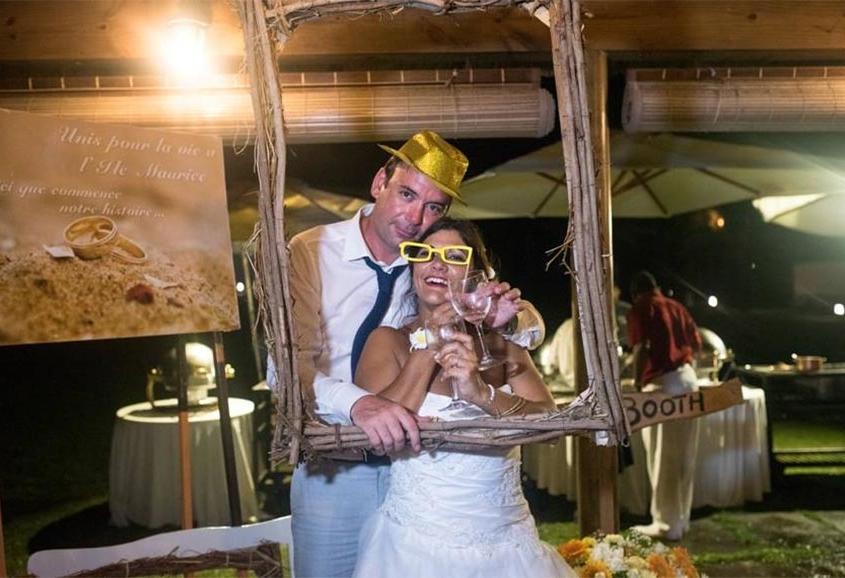 mariage deco jaune ile maurice